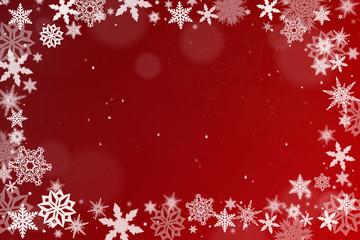 Hintergrund mit Schneekristallen