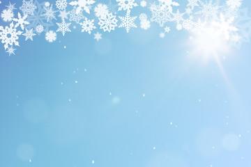 Weihnachten Hintergrund mit Schnee