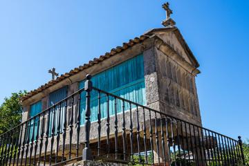 Horreos (granaries) of Combarro, Pontevedra in Galicia (Spain)