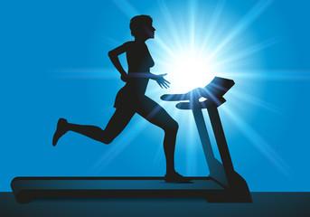 Fitness - Entrainement - Salle de sport - Femme