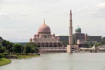 two famous lanmarks of Putrajaya Malaysia