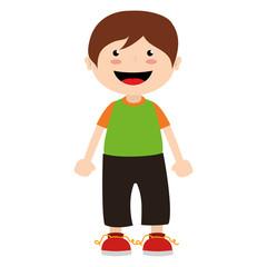 boy cartoon happy isolated design vector illustration
