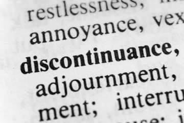 Discontinuance