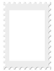 Isolierte leere Briefmarke