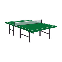 table tennis ping pong wooden green vector illustration eps 10
