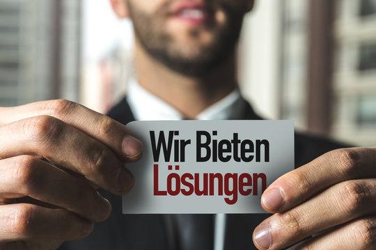 We Offer Solutions (in German)