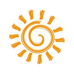 sun sunny yellow isolated vector illustration eps 10