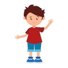 boy cartoon happy cute design vector illustration eps 10