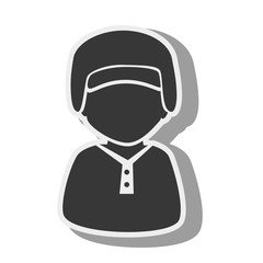 silhouette boy baseball bat isolated vector illustration eps 10
