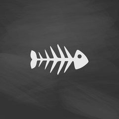 Fish skeleton computer symbol