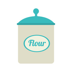 icon flour bowl isolated vector illustration eps 10