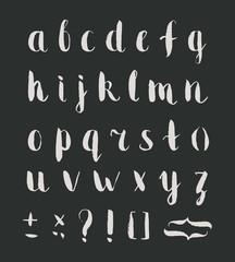 Hand drawn regular bold grunge font