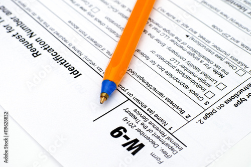 Application Form W 9 Request For Taxpayer Identification Number