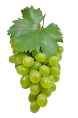 grape with leaf on a old wooden background