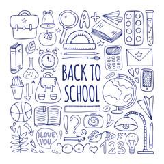Back to school big doodles set