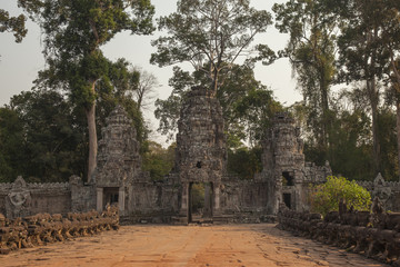 Gate of Preah khan temple, Angkor. Cambodia