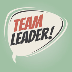team leader retro speech balloon