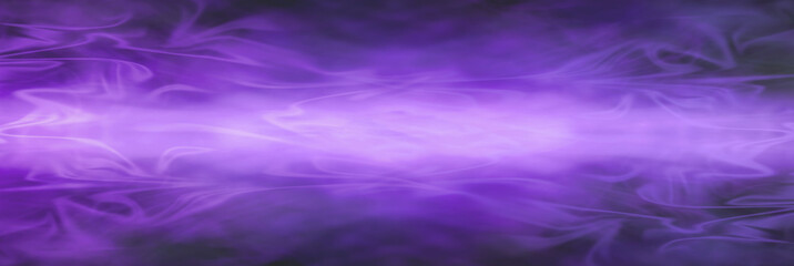 Wide graduated wispy flowing smokey purple banner