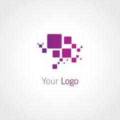 Abstract vector Illustration. Composition of 3d cubes. Background design for banner, poster, flyer, card, cover, brochure. Logo design