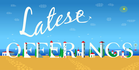 Latest offerings. Artistic font