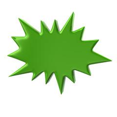 3d illustration of green bursting star
