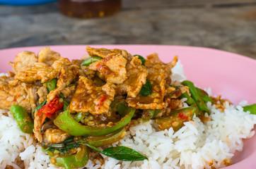 Fried pork curry,Thai food,yummy