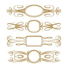 Vector calligraphy frames set
