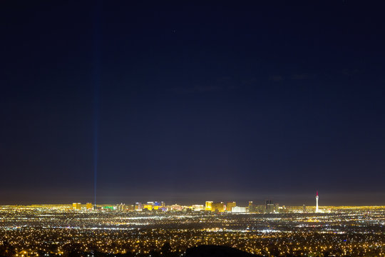 The City Skyline Of Las Vegas Nevada (No Contrast and Low Saturation)