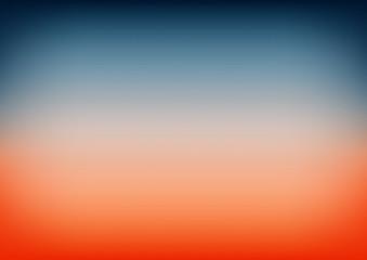 Sunset Sky Blue Orange Gradient Background Vector Illustration
