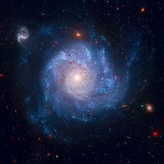 This striking spiral galaxy is home to a supernova, SN 2002fk.