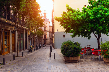 Old street in Madrid. Spain