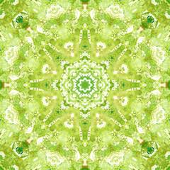 Mandala with art handmade texture.
