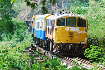 classic train is the transportation on railway in thailand