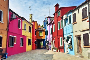 Case colorate a Burano