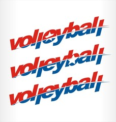 Volleyball logo vector, volleyball word text.