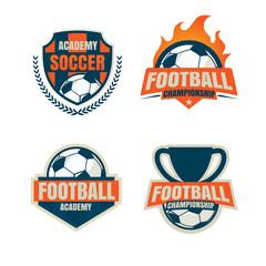 football badge logo template collection design,soccer team,vecto