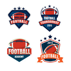 American football logo template collection,vector illustration