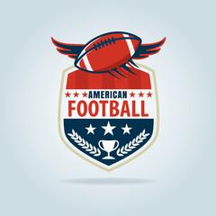 American football logo template,vector illustration