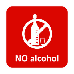 No alcohol vector icon for web and mobile