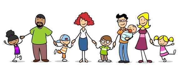 Patchwork Familie und viele Kinder