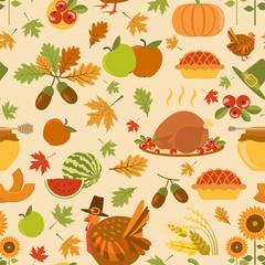 Thanksgiving day seamless pattern