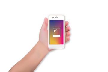 Smartphone mit Foto-App