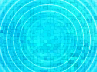 Blue tile background with concentric water ripples