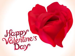 artistic valentine rose heart