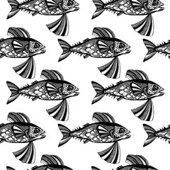 Vector fishes, ocean