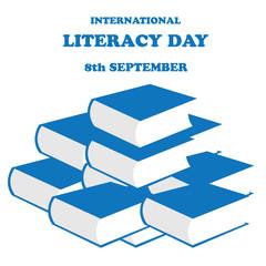 Vector illustration of International Literacy Day.