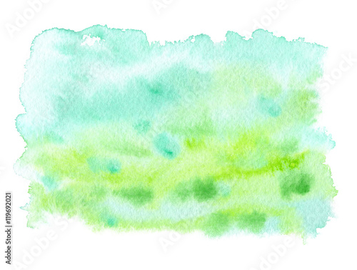 Pastel teal and green paint stain painted in watercolor for Pastel teal paint