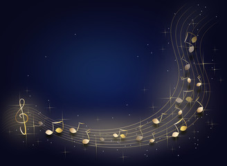 Night music background