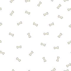 Seamless pattern with cute cartoon bones