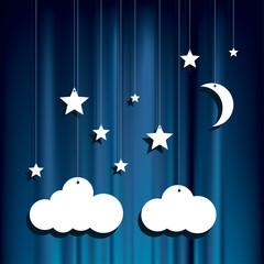 paper stars clouds